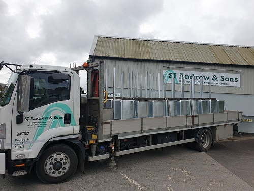 New and improved Delivery and Galvanizing Service by SJ Andrew and Sons