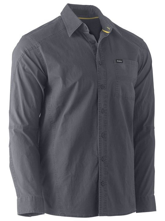 Bisley Flex & Move Charcoal Stretch Shirt