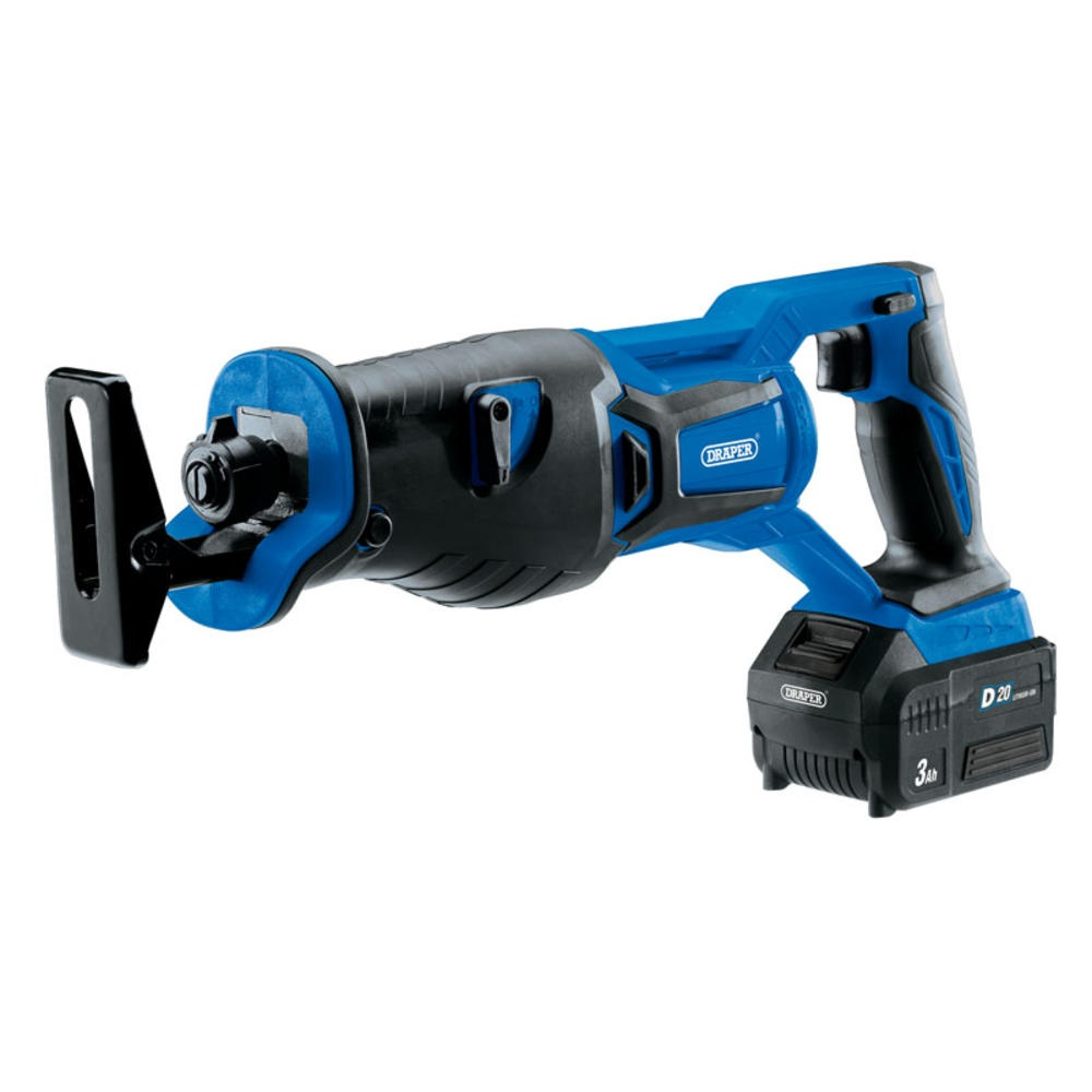 Draper 20V Reciprocating Saw with 3Ah Battery and Fast Charger