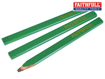 Carpenter's Pencils - Green / Hard (Pack of 3)
