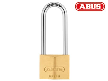 Abus 40mm Brass Padlock 63mm Long Shackle Carded