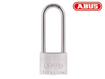 Abus 64TI/50mm TITALIUM™ Padlock 80mm Long Shackle Carded