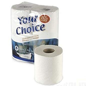White Toilet Roll - 40 Rolls