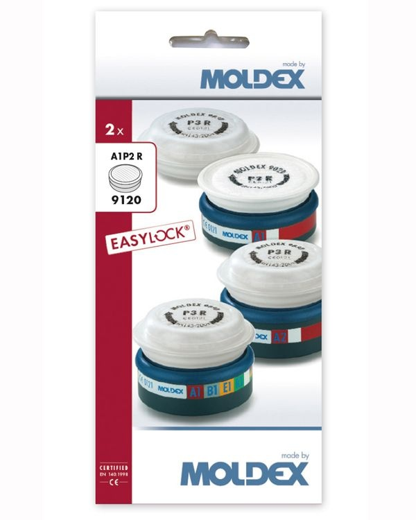 Moldex 9120 Assembled A1P2R Filters (Pack 2)