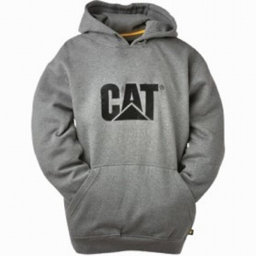 CAT Grey Trademark Hooded Sweatshirt