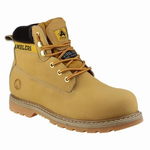 Amblers Honey Padded Collar Safety Boots