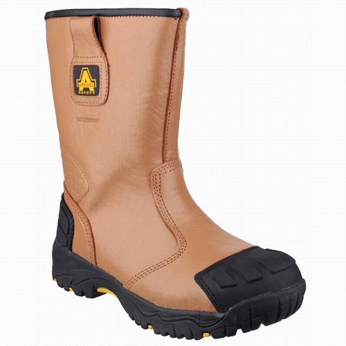 Amblers FS143 Tan Waterproof Safety Boots