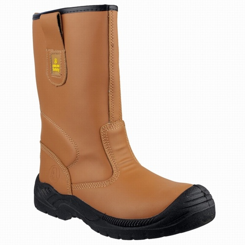 Amblers FS142 Tan Light Industrial Safety Boots