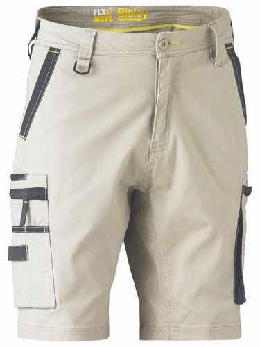 Bisley Flex & Move Stone Stretch Utility Zip Cargo Short
