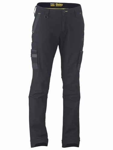 Bisley Flex & Move Black Stretch Utility Cargo Trouser