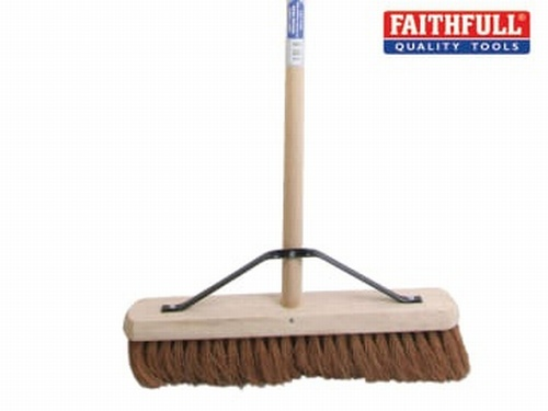 Broom Soft Coco 45cm (18in) + Handle & Stay