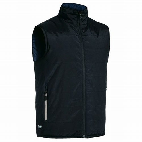Bisley UKV0328 Black Reversible Shower Proof Puffer Vest