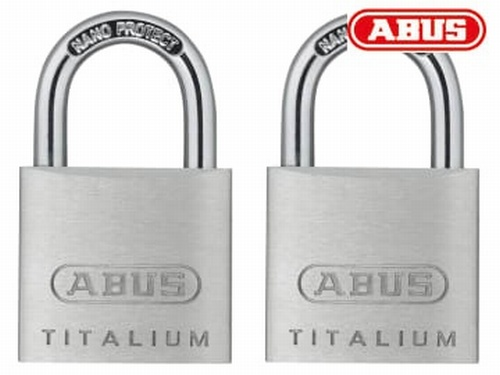 Abus 64TI/30mm TITALIUM™ Padlock Carded Twin Pack