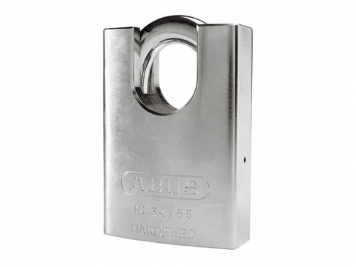 Abus 34/55mm Hardened Steel Padlock Close Shackle Carded