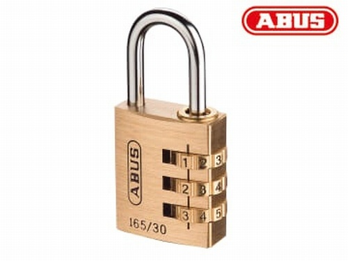 Abus 165/30 30mm Solid Brass Body Combination Padlock (3-Digit) Carded