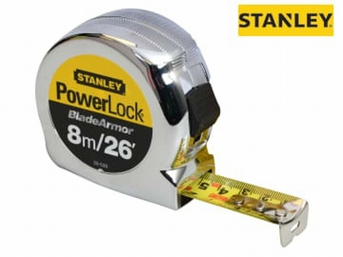 PowerLock® BladeArmor® Pocket Tape Measure 8m/26ft (Width 25mm)