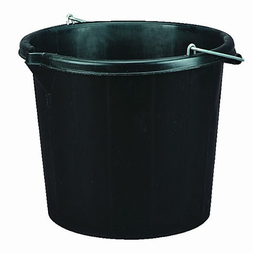 3 Gallon Black Plastic Bucket