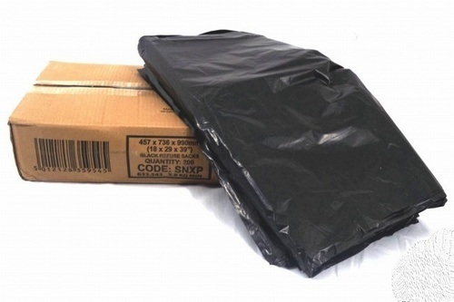Box of 200 Black Refuse Sacks (140 gauge)