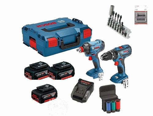 GSB 18 18V-28 + GDX 18V-180 Twin Pack Drill & Impact Driver/Wrench with Accessories