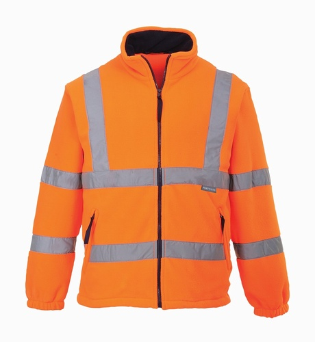 Hi-Vis Orange Medium Mesh Lined Fleece