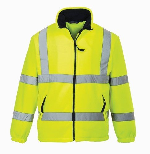 Hi-Vis Yellow XL Mesh Lined Fleece