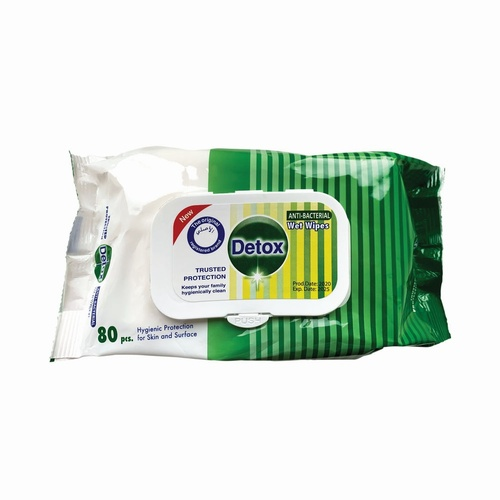 Detox Wet Cleaning Wipes (Pack 80)